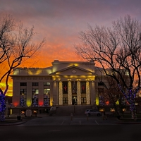 Courthouse Christmas Sunset